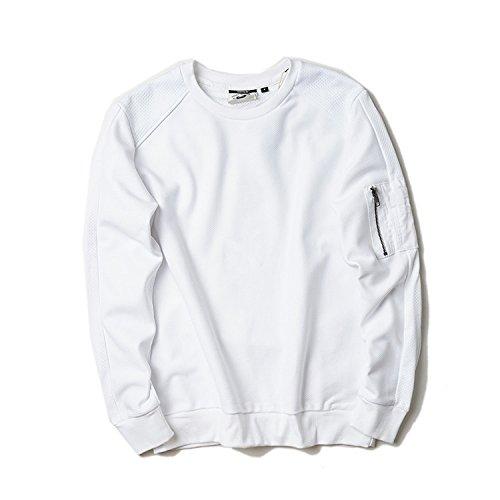 Lisux männer - Casual Mode Pullover auf alle mit Rollkragen - Pullover männer fest,weiße,XL