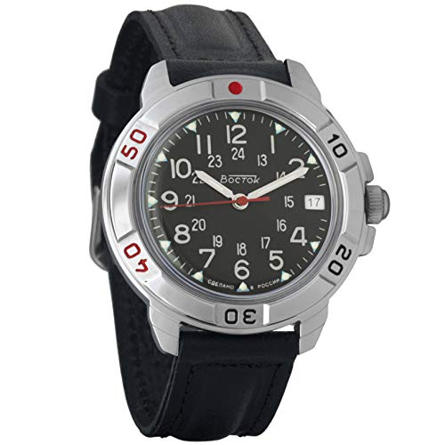 Vostok Komandirskie Commander Russian Army Mens Mechanical Military Wrist Watch #431783 ()