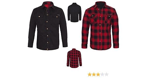 Camisa King Kerosin chaqueta reversible de Kevlar, color rojo y negro, lona, talla XL: Amazon.es: Coche y moto