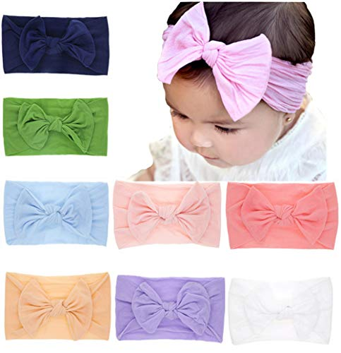 (Baby Headbands Turban Knotted, Girl's Hairbands for Newborn,Toddler and Childrens)