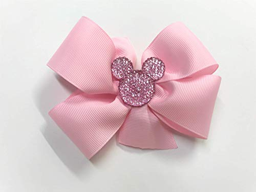 Minnie Mouse Hair Bow Pink Bling Mouse Ears Hair Clip