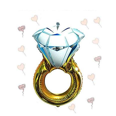 Teabelle Globo Anillo de Diamante de Aluminio para Boda Globos inflables Regalo cumpleaños Boda Fiesta decoración 30 Pulgadas: Amazon.es: Hogar