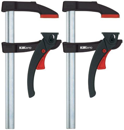 2x Bessey KliKlamp KLI12 - Magnesium - Hebelzwinge - Set