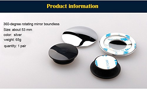 Set of 2. Adjustable View Mirrors Blind spot Mirrors for Car; Wide Angle Convex Mirrors Round Stick on Mirror