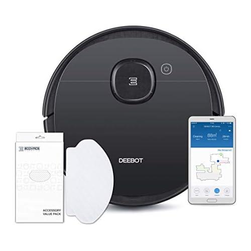 chollos oferta descuentos barato ECOVACS DEEBOT OZMO 950 Care Robot Aspirador 2 en 1 con función de Limpieza y navegación Inteligente Google Home Control de Alexa y aplicación y toallitas limpiadoras