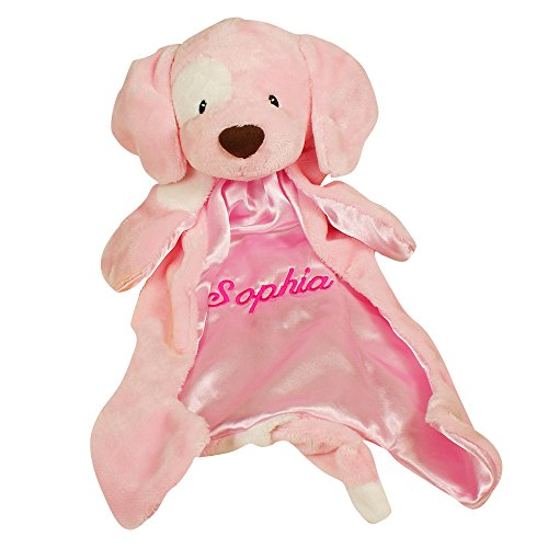 - Personalized Pink Baby Huggybuddy Blankie, 18