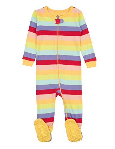 Leveret Kids Pajamas Baby Boys Girls Footed Pajamas Sleeper 100% Cotton (Colorful, Size 12-18 Months)