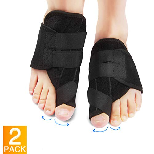 - Bunion Corrector with Self-Adhesive Buckle Design Bunion Splint with Gel Toe Separators and Protect Sleeves Bunion Pain Relief Kit for Hallux Valgus Day Night Time Support for Women Men 1 Pair