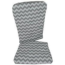 BabyDoll Chevron Rocking Chair Pad, Grey