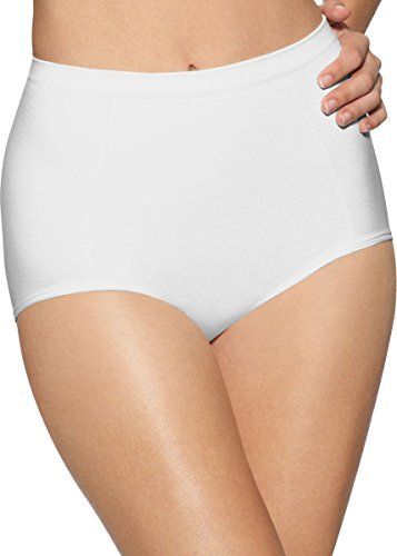 Bali womens Seamless Brief With Tummy Panel Ultra Control 2-Pack(X245)-2 White-L