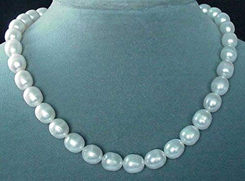 White Pear Shaped 9mm to 12mm FW Pearls Strand for Jewelry Making -