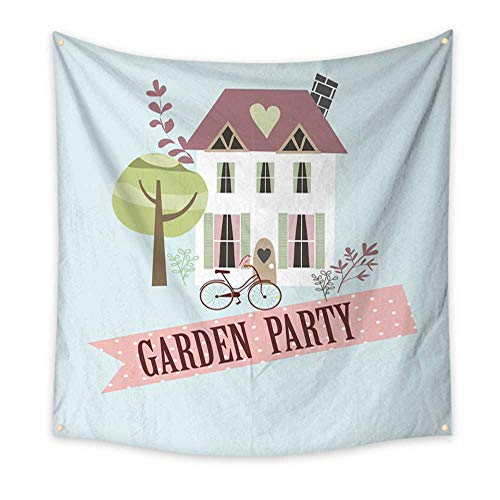 BlountDecor Dormitory Tapestry Garden Party Invitation Card 47W x 47L Inch ()