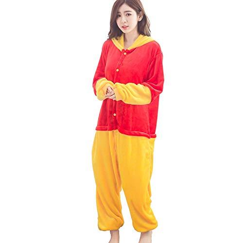 CHARWOR Unisex Adult Onesies Animal Cosplay Costume Onesie Winnie The Pooh Pajamas ()