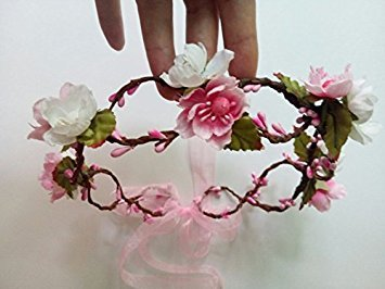 Fake Silk Fabric cherry blossom flowers Head Girls Hairbands Floral Hair Accessories