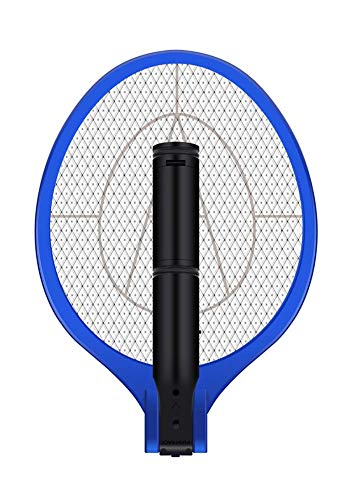AOWOTO Plug in Electric Rechargeable Fly Racket with Battery - S Size White