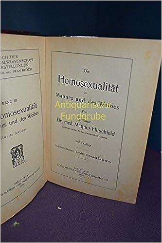 Die Homosexualität des Mannes und des Weibes