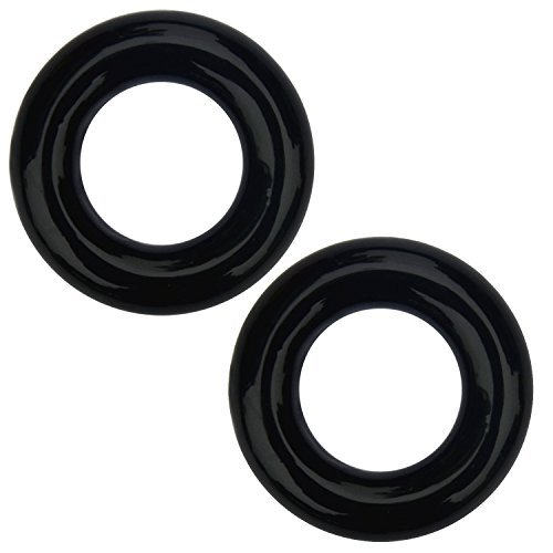 Elemart Golf Weighted Swing Ring - 2 PCS Golf Club Warm Up Swing Donut Weight Ring Diver for Practice & Training (Black) ()