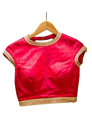 Women's Party Wear Readymade Bollywood Designer Indian Style Padded Blouse for Saree Crop Top Choli Pink