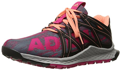 adidas Performance Women's Vigor Bounce W Running Shoe, Bold Pink/Black/Sun Glow S16, 11 M US