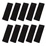 FASOTY 10 Pieces Black Sport Basketball Headbands Fashionable Towel Headbands Sweatbands Althetic Headband for Men and Women