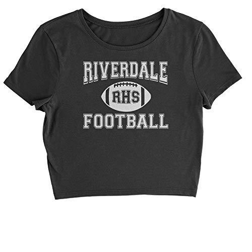 01bc4ac7246041 Expression Tees Cropped T-Shirt Riverdale Football T-Shirt Large Black