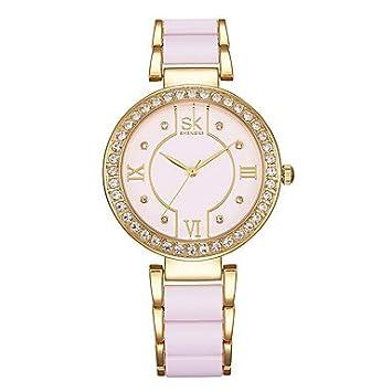 Bellos Relojes, SK Mujeres Collar Fashion Reloj Mujer Reloj de Pulsera imitación de Diamante Reloj