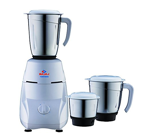Bajaj Tornado 550-Watt Mixer Grinder with 3 Jars