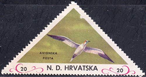 Croatia Bird Triangle Postage Stamp A2