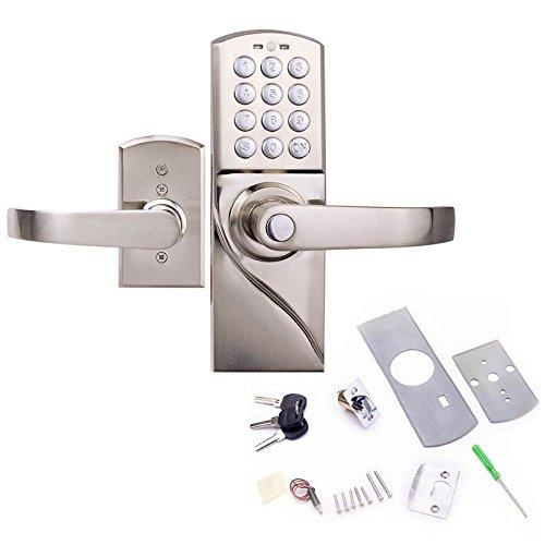 Toyofmine Right Handed Digital Combination Keypad Door Lock with Backup Keys, Keyless Entry Access Password Toyofmine