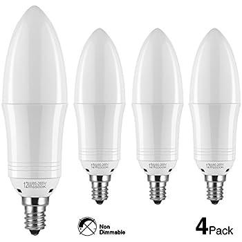 hzsane e12 led candle bulbs 12w 100w incandescent bulbs equivalent 6500k daylight white. Black Bedroom Furniture Sets. Home Design Ideas
