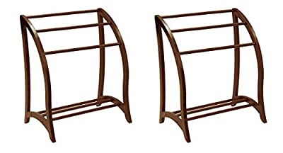Winsome Wood Blanket Rack, Antique Walnut by Winsome Wood