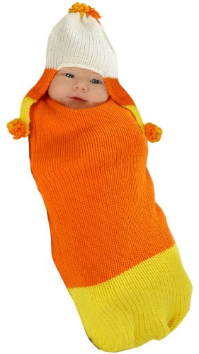 Baby Corn Bunting Costumes (Princess Paradise Unisex Baby Camden The Candy Corn, Orange/Yellow, 0/3 Months)