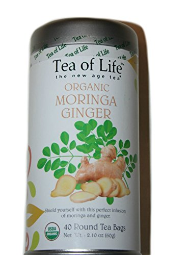 Tea Of Life Organic Moringa with Ginger 2.10oz 40 Round Tea Bags