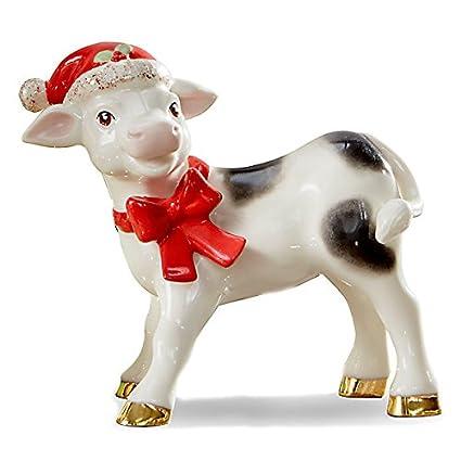 Christmas Cow.Noelle The Christmas Cow Figurine
