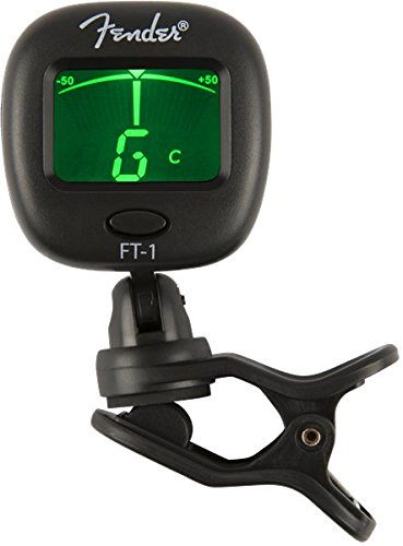 Fender 0239978000 FT-1 Pro Clip on Tuner for Acoustic Guitar, Electric Guitar, Bass, Mandolin, Violin, Ukulele, Viola, Cello, Mandola, and Banjo by Fender (Image #1)