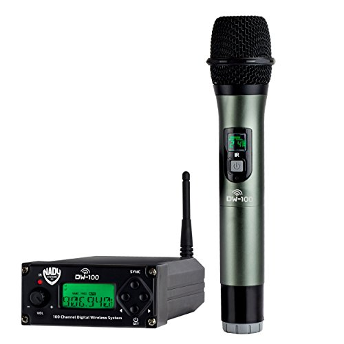 Nady DW-100 Digital 100-Channel Professional Wireless Microphone System - Live Stage Performance - Karaoke ()