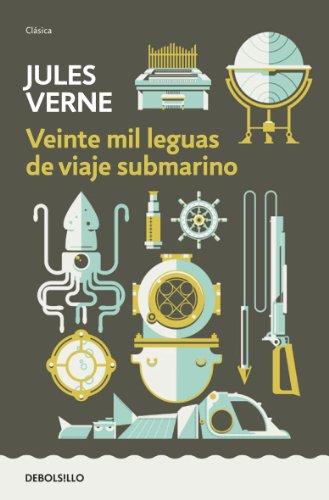 Portada del libro Veinte mil leguas de viaje submarino de Jules Verne