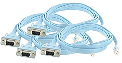 41yHPylNixL._SX425_ amazon com 4 pack cisco 6 ft rollover console cable rj45 male to
