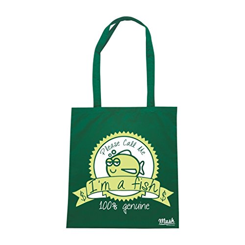 Borsa Im A Fish - Verde Bottiglia - Poker by Mush Dress Your Style