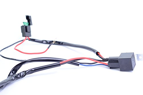 Mictuning hd w led light bar wiring harness amp relay
