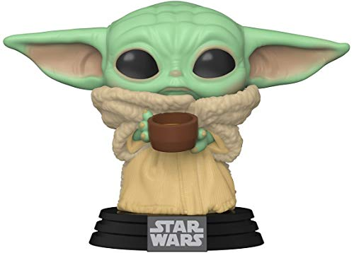 Funko- Pop Star Wars Mandalorian-The Child w/Cup Figura Coleccionable, Multicolor (49933)