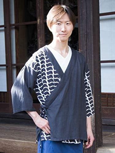 【カヤ】紋継ぎ羽織り メンズ 7IA-8216