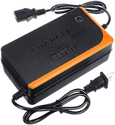 MXBIN Cargador de batería de plomo de 48V 12AH para las vespas ...