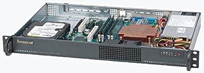 Supermicro 200-Watt Mini 1U Rackmount Server Chassis, Black CSE-510L-200B