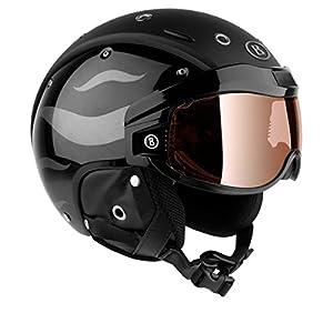 EM-EL B Visor Flames Ski Helmet – Free