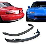 GT-Speed 2x Combo for 1990-1997 Mazda Miata RS Front + RS Rear PU Bumper Lip