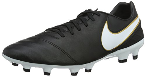 Nike Men's Tiempo Mystic V Firm Ground Football Boots Black (Black/White/Metallic Gold) disH2PlSs8