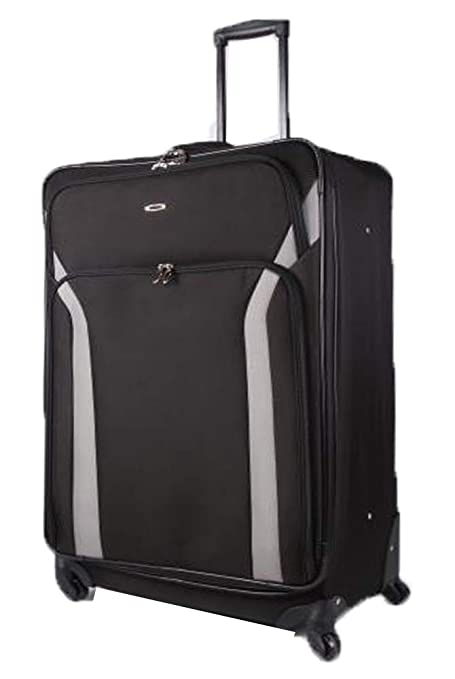 """1bbbf058f Super Lightweight Expandable Luggage Suitcases 4 Wheel Spinner Travel Hold  Bag (Black, 29"""""""