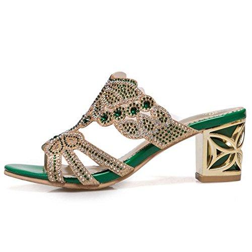 Zanpa Women Summer Mules Sandals 2#green iRwVvH