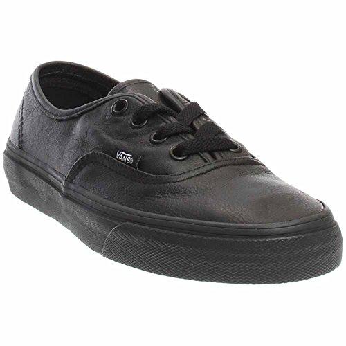 Vans Authentic Women US 7 Black (Black Lthr Lace)